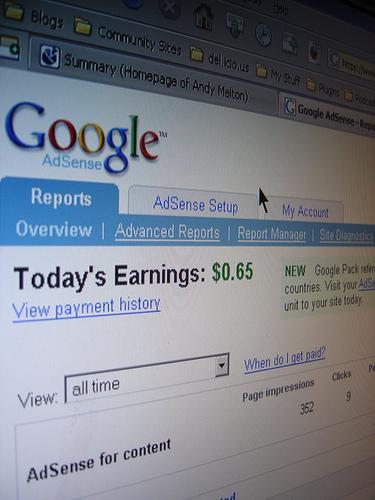 Google adsense szolgáltatás a Virus AdHouse-nál